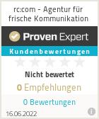 Erfahrungen & Bewertungen zu rc:com - Agentur für frische Kommunikation