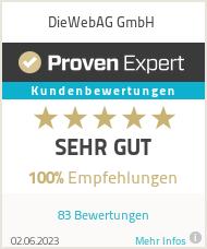Erfahrungen & Bewertungen zu DieWebAG GmbH