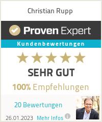 Erfahrungen & Bewertungen zu Christian Rupp
