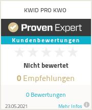 Erfahrungen & Bewertungen zu KWID PRO KWO