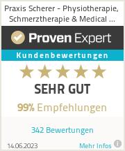 Erfahrungen & Bewertungen zu Praxis Scherer - Physiotherapie, Schmerztherapie & Medical Wellness