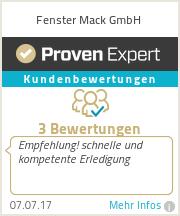 Erfahrungen & Bewertungen zu Fenster Mack GmbH