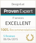 ProvenExpert-Profil von Design6.at