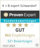 Erfahrungen & Bewertungen zu K + B expert Schwandorf