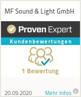 Erfahrungen & Bewertungen zu MF Sound & Light GmbH