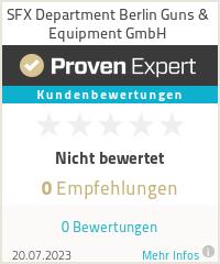 Erfahrungen & Bewertungen zu SFX Department Berlin Guns & Equipment GmbH