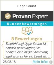 Erfahrungen & Bewertungen zu Lippe Sound