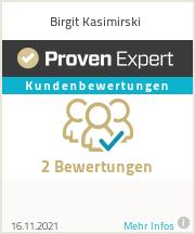 Erfahrungen & Bewertungen zu Birgit Kasimirski