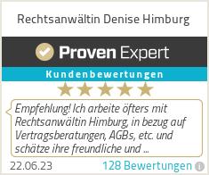 Erfahrungen & Bewertungen zu Rechtsanwältin Denise Himburg