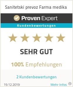 Erfahrungen & Bewertungen zu Sanitetski prevoz Farma medika