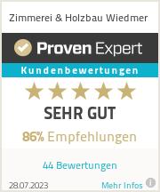 Erfahrungen & Bewertungen zu Zimmerei & Holzbau Wiedmer