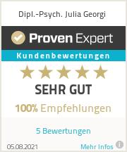Erfahrungen & Bewertungen zu Dipl.-Psych. Julia Georgi