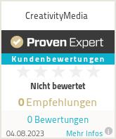 Erfahrungen & Bewertungen zu CreativityMedia