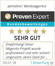 Erfahrungen & Bewertungen zu admetrix! Werbeagentur