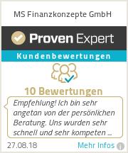 Erfahrungen & Bewertungen zu MS Finanzkonzepte GmbH