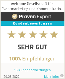 Erfahrungen & Bewertungen zu welcome Veranstaltungs GmbH