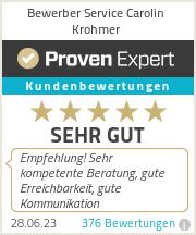 Erfahrungen & Bewertungen zu Bewerber Service Carolin Krohmer