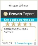 Erfahrungen & Bewertungen zu Ansgar Wörner