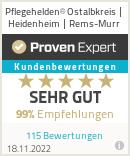 Erfahrungen & Bewertungen zu Pflegehelden® Ostalbkreis / Heidenheim