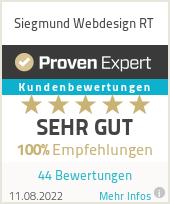 Erfahrungen & Bewertungen zu Siegmund Webdesign RT