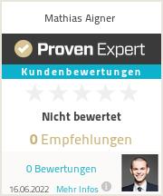 Erfahrungen & Bewertungen zu Mathias Aigner