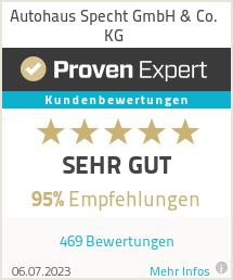 Erfahrungen & Bewertungen zu Autohaus Specht GmbH & Co. KG