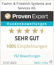 Erfahrungen & Bewertungen zu Fachin & Friedrich Systems & Services KG
