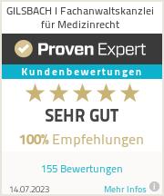 Erfahrungen & Bewertungen zu GILSBACH I Fachanwaltskanzlei für Medizinrecht
