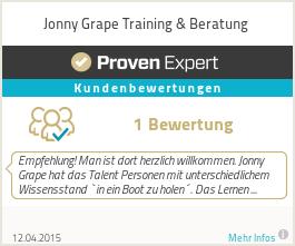 Erfahrungen & Bewertungen zu Jonny Grape Training & Beratung