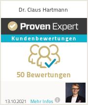 Erfahrungen & Bewertungen zu Dr. Claus Hartmann