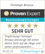 Erfahrungen & Bewertungen zu Christoph Brosius