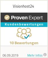 Erfahrungen & Bewertungen zu Visionhost24