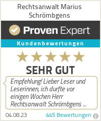 Erfahrungen & Bewertungen zu Rechtsanwalt Marius Schrömbgens