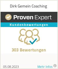 Erfahrungen & Bewertungen zu Dirk Gemein Coaching