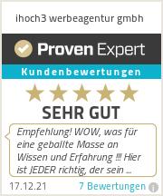 Erfahrungen & Bewertungen zu ihoch3 werbeagentur gmbh