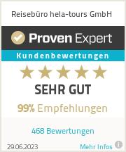 Erfahrungen & Bewertungen zu Reisebüro hela-tours GmbH