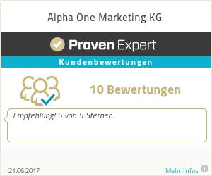 Erfahrungen & Bewertungen zu Alpha One Marketing KG