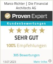Erfahrungen & Bewertungen zu Marco Richter | Die Financial Architects AG