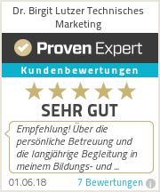 Erfahrungen & Bewertungen zu Dr. Birgit Lutzer Technisches Marketing