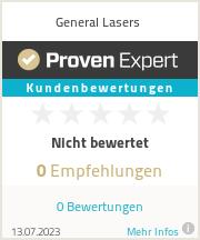 Erfahrungen & Bewertungen zu General Lasers