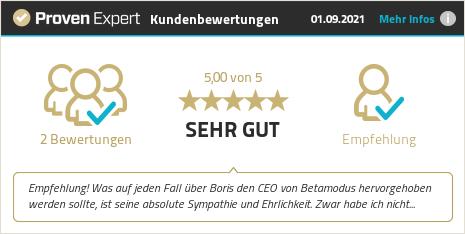 Kundenbewertungen & Erfahrungen zu Betamodus GmbH. Mehr Infos anzeigen.