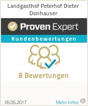 Erfahrungen & Bewertungen zu Landgasthof Peterhof Dieter Donhauser