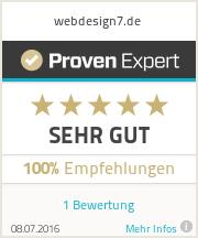Erfahrungen & Bewertungen zu webdesign7.de