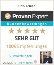 Erfahrungen & Bewertungen zu Udo Telaar
