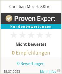 Erfahrungen & Bewertungen zu Christian Mocek e.Kfm.