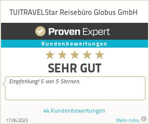 Erfahrungen & Bewertungen zu TUITRAVELStar Reisebüro Globus GmbH