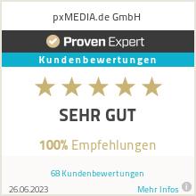 Erfahrungen & Bewertungen zu pxMEDIA.de GmbH