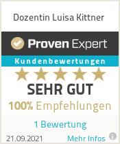 Erfahrungen & Bewertungen zu Dozentin Luisa Kittner