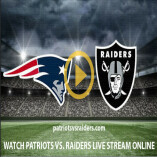 Patriots vs Raiders