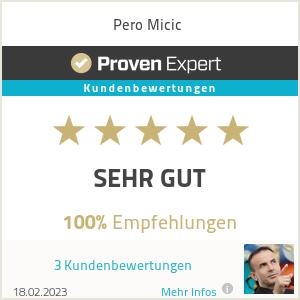 Erfahrungen & Bewertungen zu Pero Micic